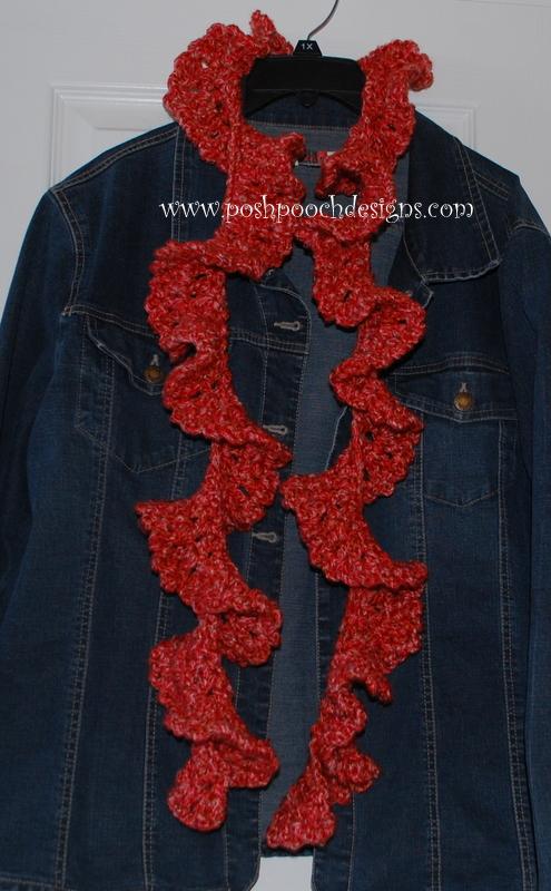 Free Crochet Pattern For Ruffled Scarf : Posh Pooch Designs Dog Clothes: Chunky Ruffle Scarf ...