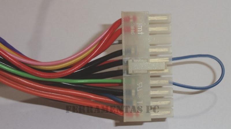 Detalhe conector ATX
