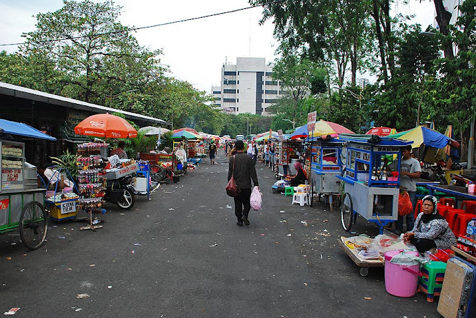 Mercadillo en Yakarta