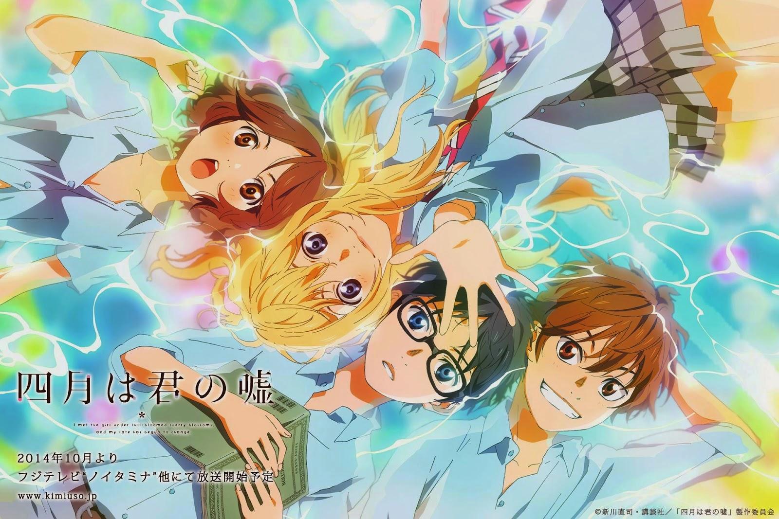 Pertengahan maret kemaren saya ketemu anime tearjeaker terbaik yang pernah saya tonton ampe saat ini judulnya shigatsu wa kimi no uso yang artinya