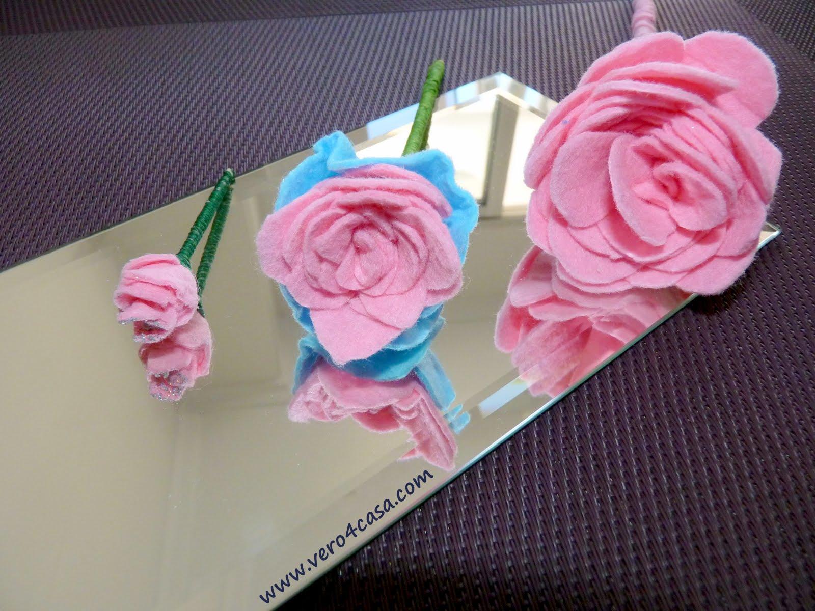 Como hacer una rosa de fieltro paso a paso vero4casa - Manualidades de fieltro paso a paso ...