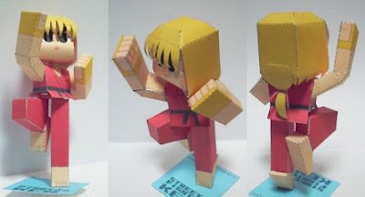 Street Fighter Papercraft Ken