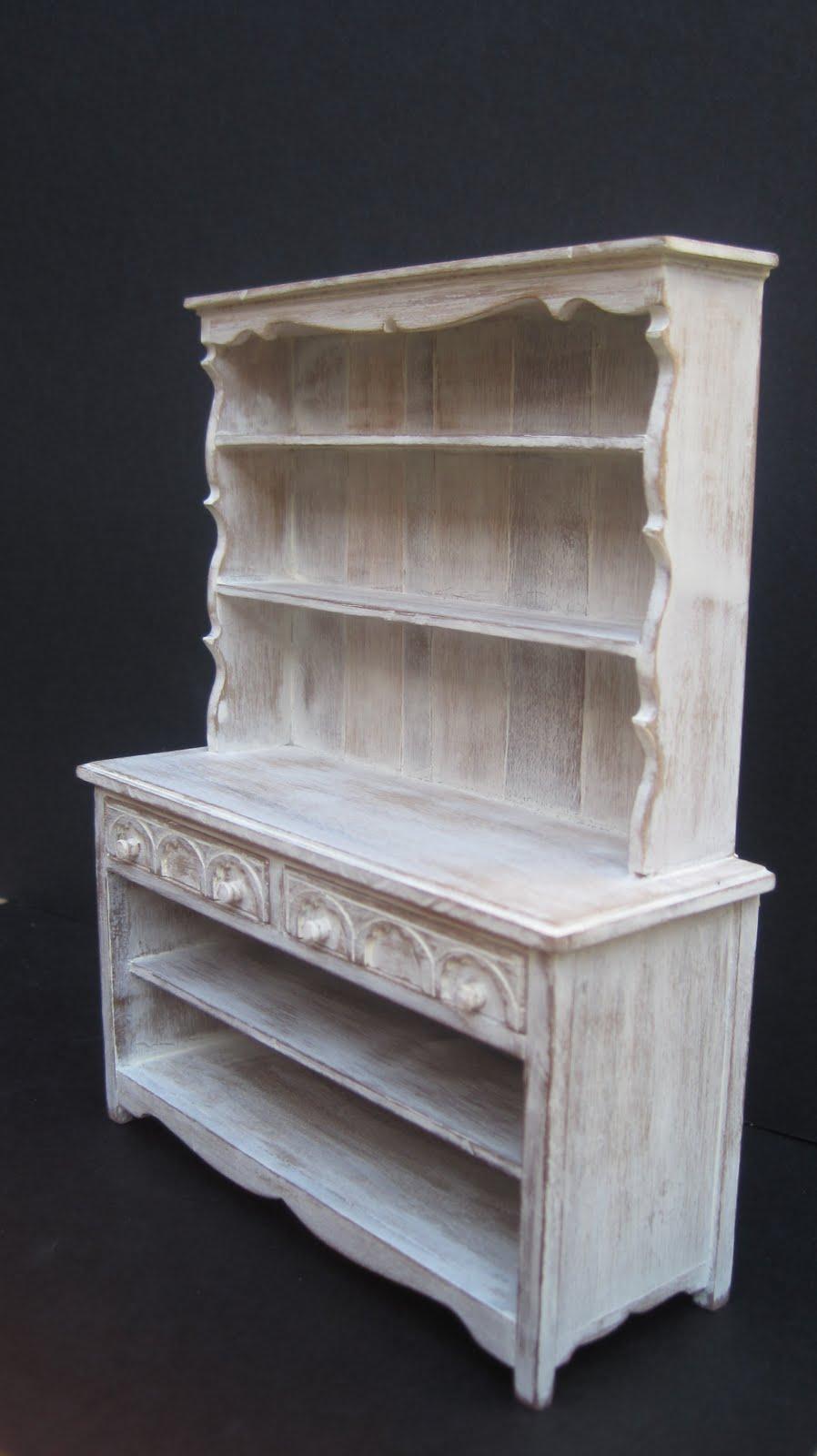 Muebles en miniatura miniature furniture mueble de cocina for Muebles rusticos blancos