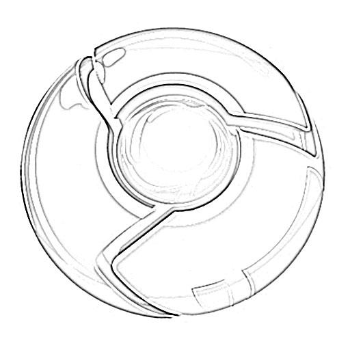 Google Chrome Logo Sketch - Image Sketch