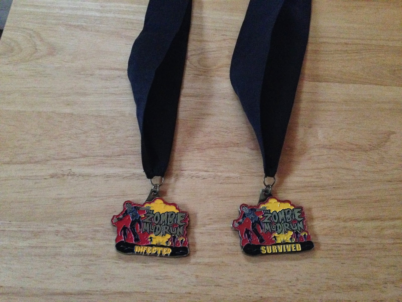 zombie mud run finisher medals