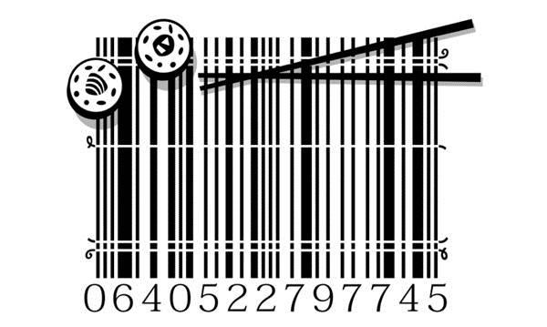 barcodes unik illustrasi kartun