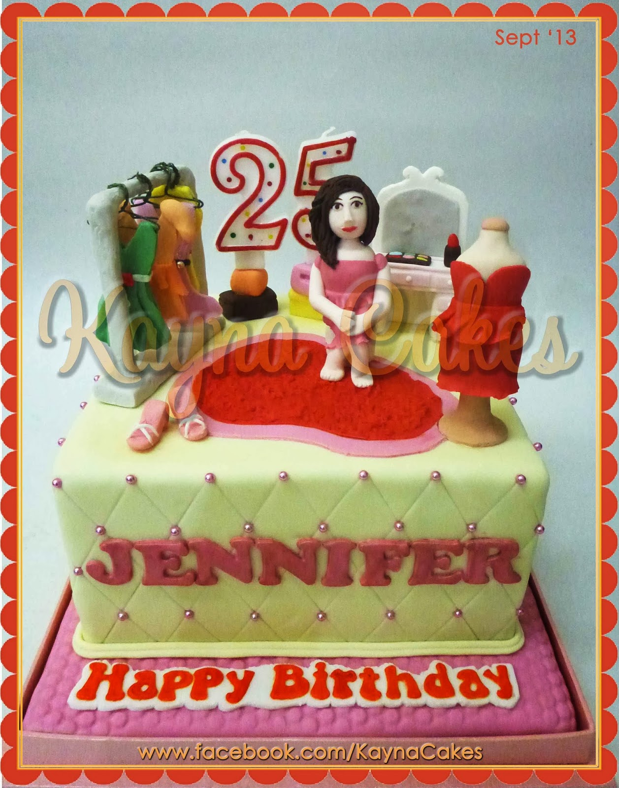 Kayna Cakes And Cupcakes Jennifer 25th Birthday Cake