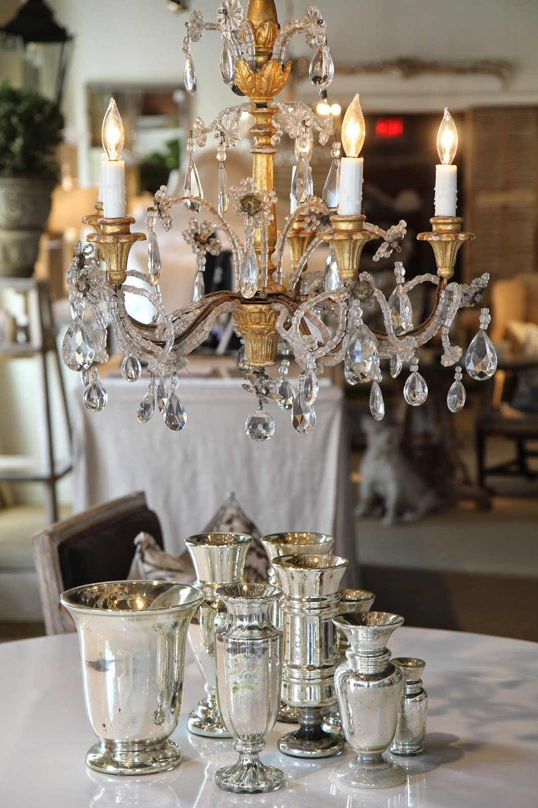 Gold-leaf chandelier; Inspirational Chandeliers and Sconces; Nora's Nest