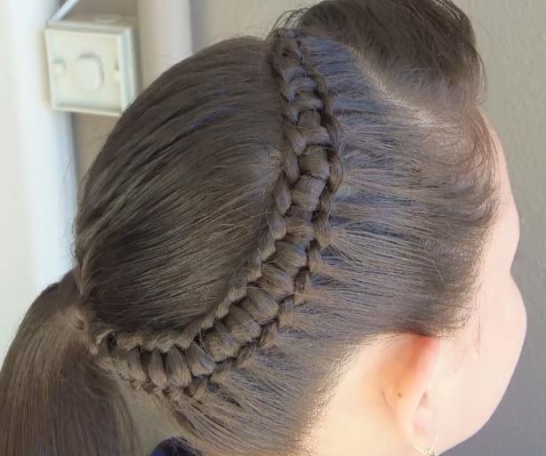 peinados con trenzas para nias trenza pasacinta - Peinados Con Trenzas