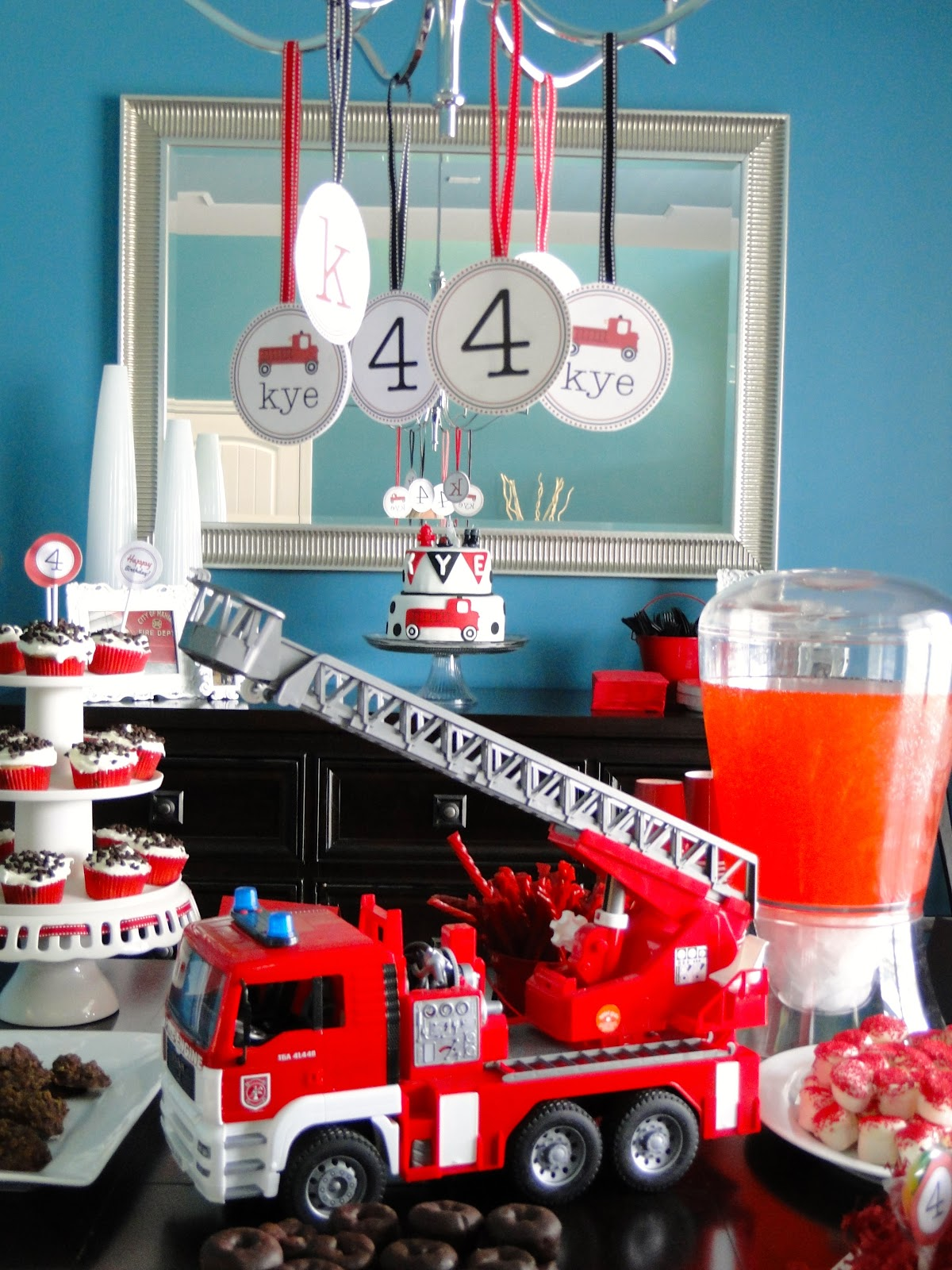The journey of parenthood firetruck party decorations