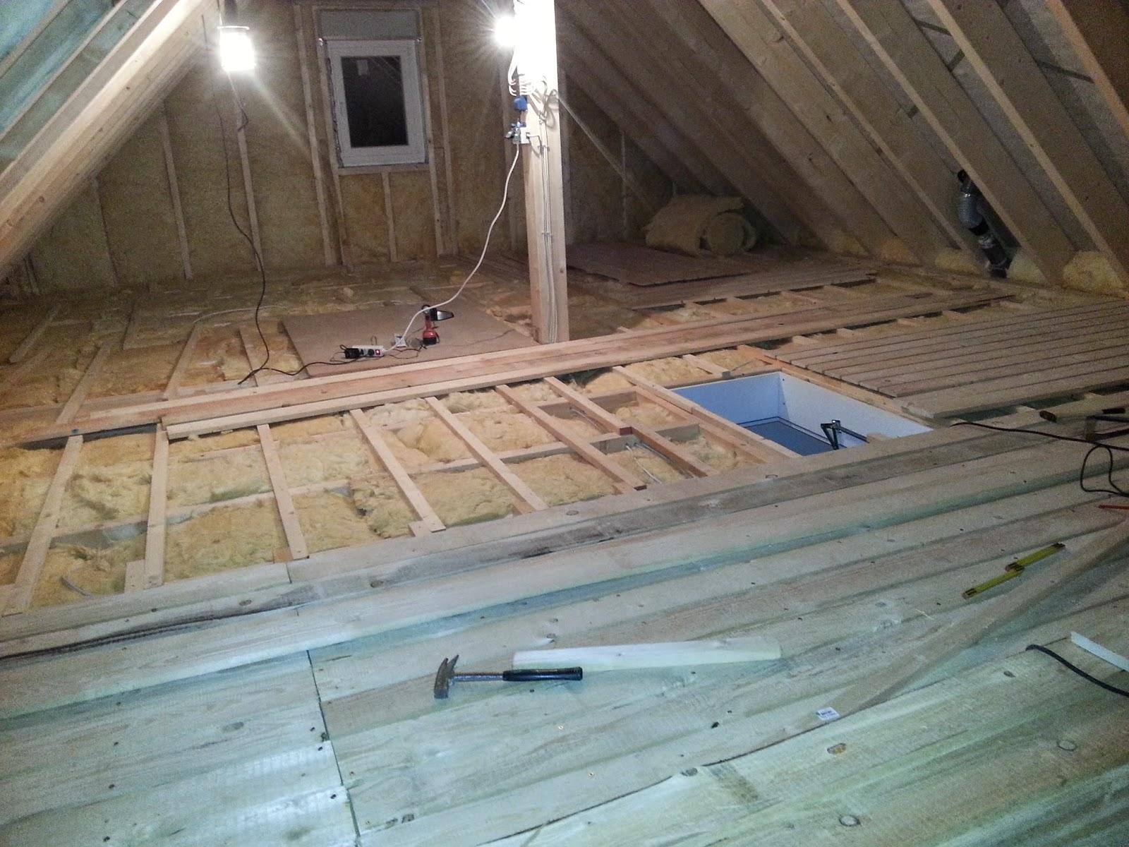 wir bauen ein okal haus dachboden. Black Bedroom Furniture Sets. Home Design Ideas
