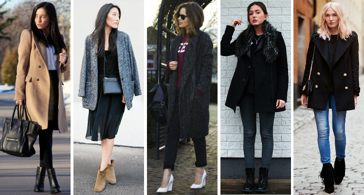 fashion bloggers wearing peacoat trend