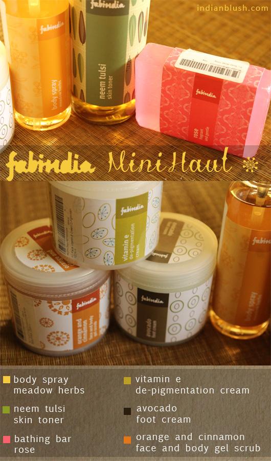 Fabindia Mini Body Spray Toner Soap Foot Cream Body Scrub Night Cream