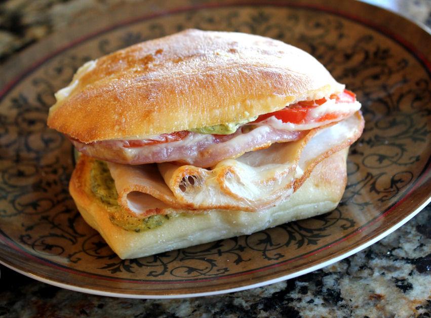 Costco Turkey Pesto Provolone Sandwich Melt Jamie Cooks