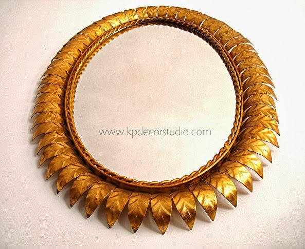 Venta de espejos redondos y ovalados. Tienda online de espejos antiguos, dorados color oro