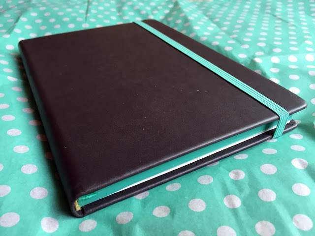 Grey Hardcover Notebook with Teal Accents