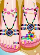 Пляжный педикюр - Онлайн игра для девочек