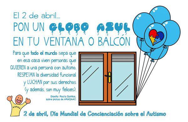 Día mundial de la concienciación sobre el autismo. 2 de abril