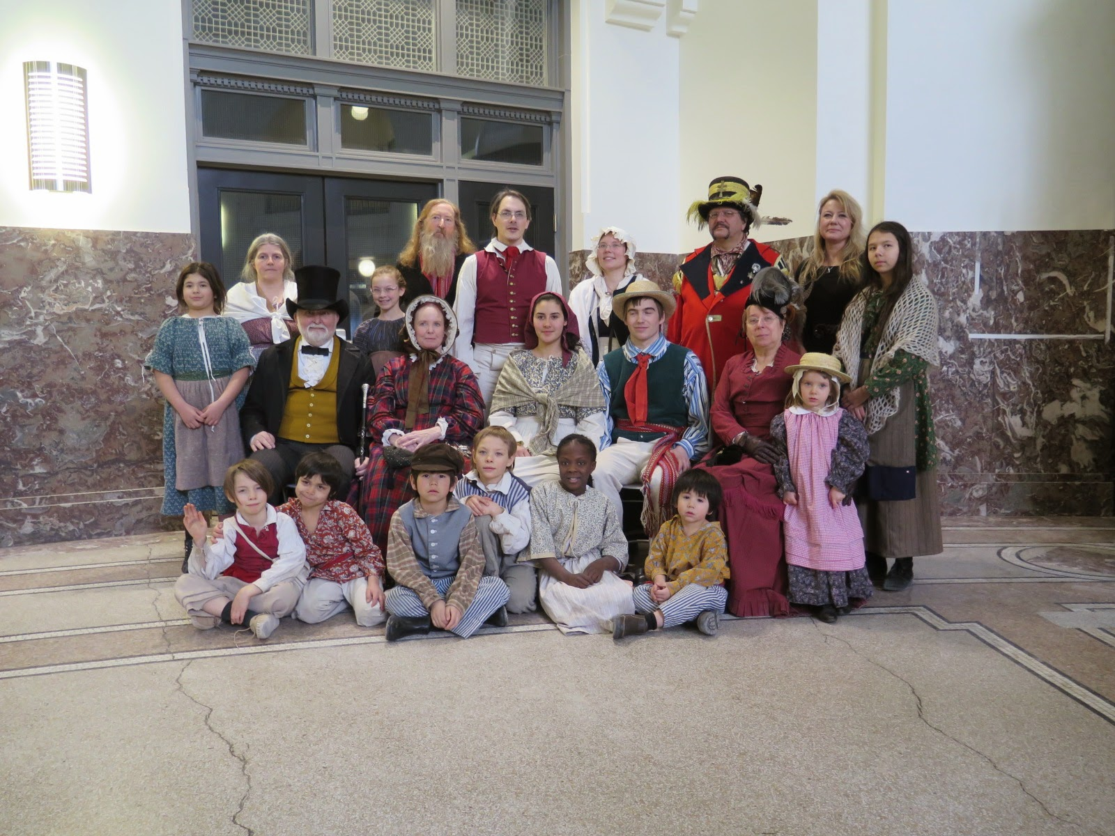 Representatives from the Manitoba Living History Society attended the event in full costume!