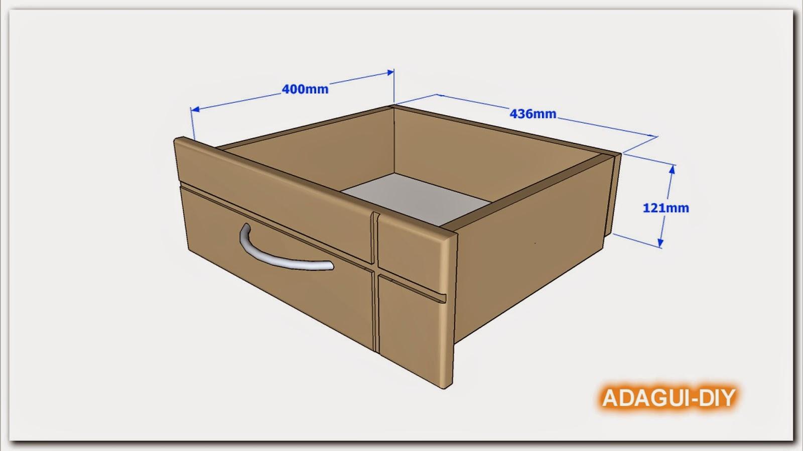 de elaboración del cajón de mdf para veladores o mesas de noche