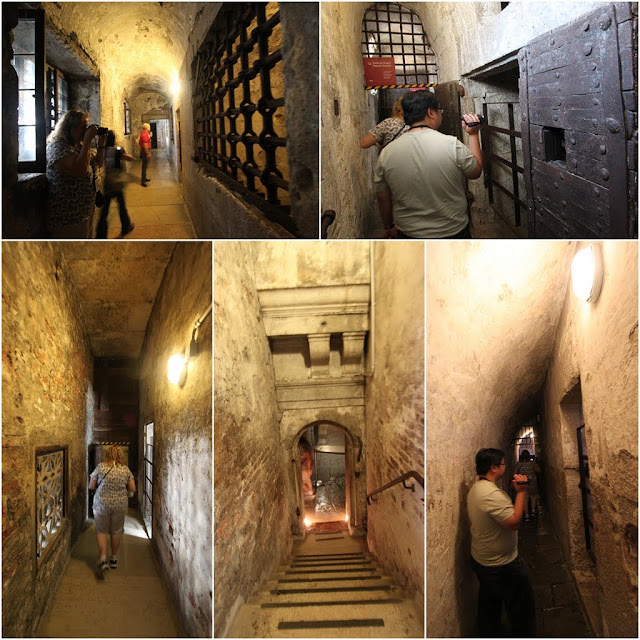 Prison cells at the basement of Palazzo Ducale is one of the main attraction sites to visit besides the chamber halls, court and paintings in Palazzo Ducale, Venice, Italy