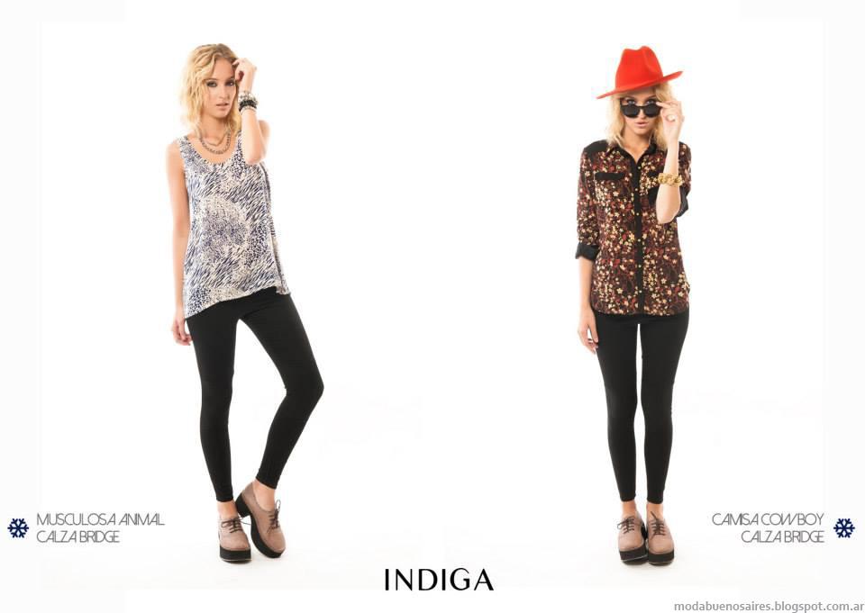 Pantalones de moda otoño invierno 2014 Indiga colección de moda urbana.