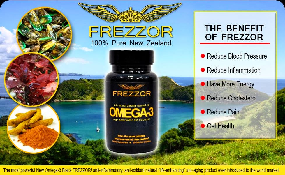 FREZZOR OMEGA 3 black now with curcumine