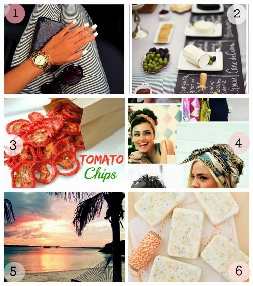 pinterest find, white manicure, cheese and wine, scarfs, tomato chips