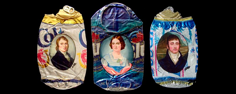 Arte en latas aplastadas