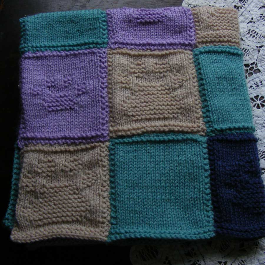 Battersea Dog Blanket Knitting Pattern : Sooz Jewels: Comfort blanket finished for Battersea