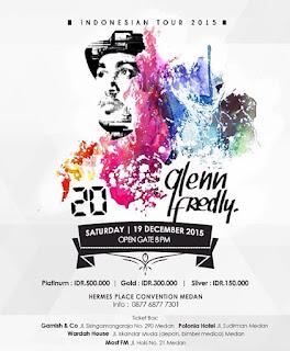 KONSER 20TH GLENN FREDLY BERKARYA DALAM INDONESIA TOUR 2015 DI MEDAN