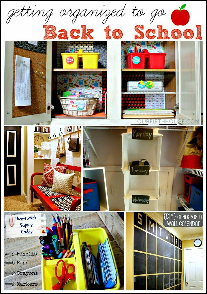 Back to school organization ideas - How to organize your desk at home for school ...
