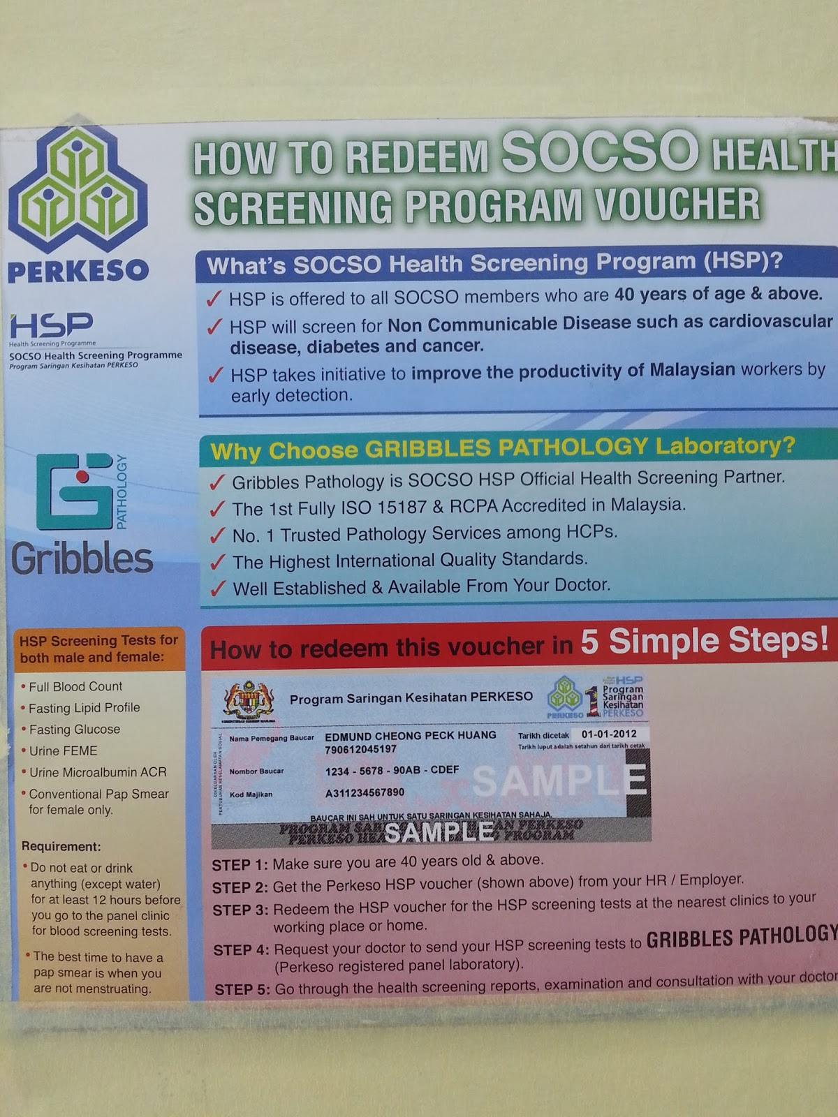 How To Redeem SOCSO Health Screening Program Voucher