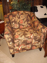 Brown & Red Floral Chair
