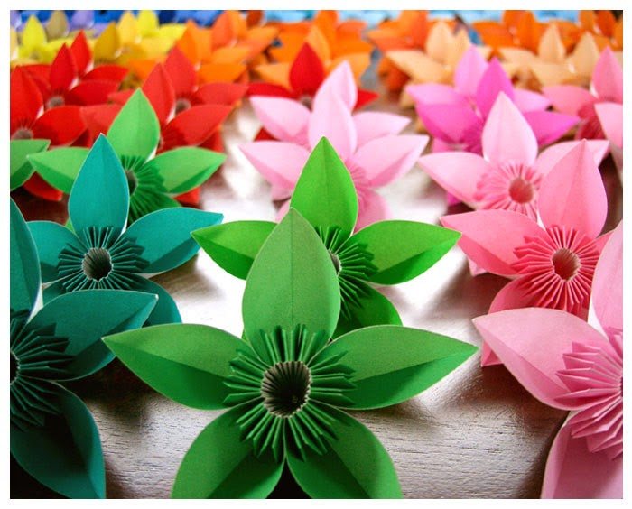 Origami maniacs origami modular flower origami modular flower mightylinksfo