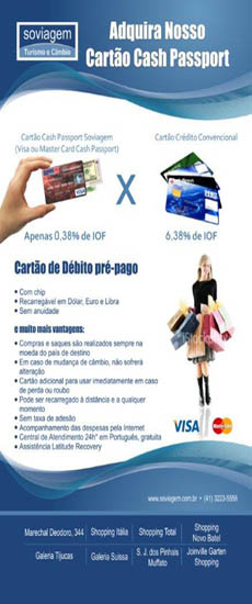 Cartão de Débito Pré-pago Travel Money