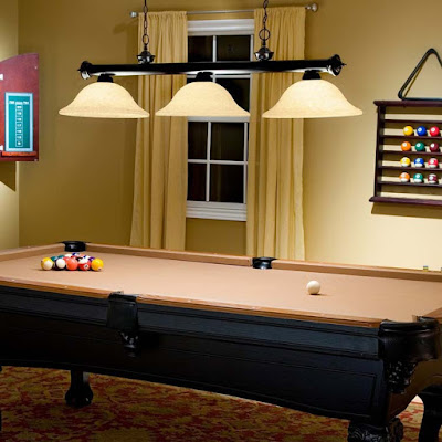 Pool Table Lights Fixtures Setting