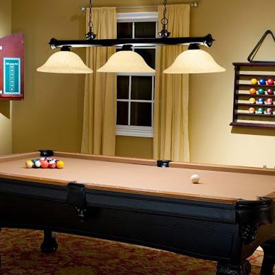 Pool Table Lights Fixtures Setting