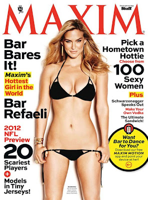 Israeli model, Bar Refaeli, Bar Refaelibikini model, Bar Refaeli mODEL, Maxim's Photoshoot, September 2012, Model