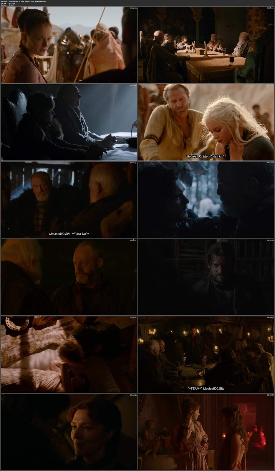 GAME OF THRONES S02E01 DUAL AUDIO Hindi ENG BluRay 450MB 720p