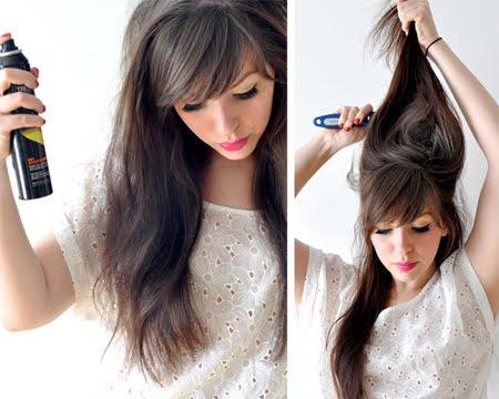 Допълнителен обем със стилизиращ продукт и топиране на косата