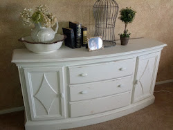 White Distressed TV stand / Buffet