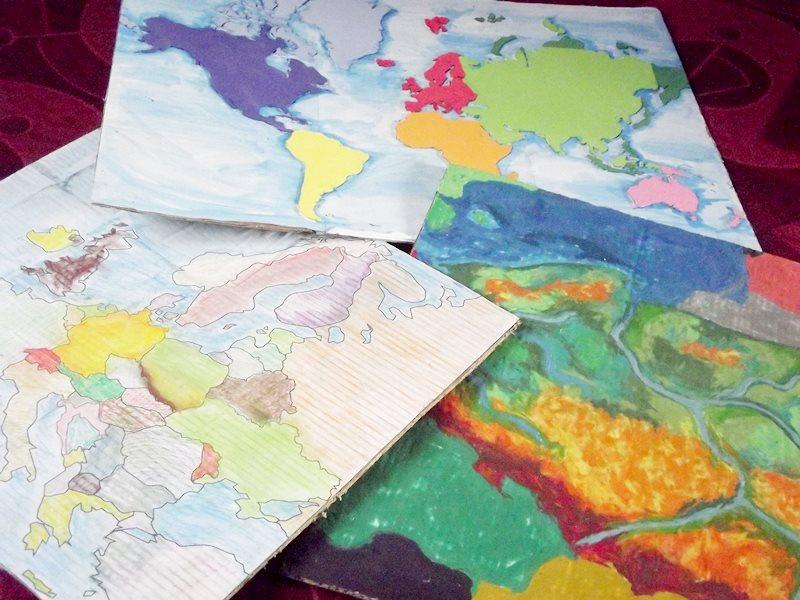mapa świata, mapa Polski, mapa Europy