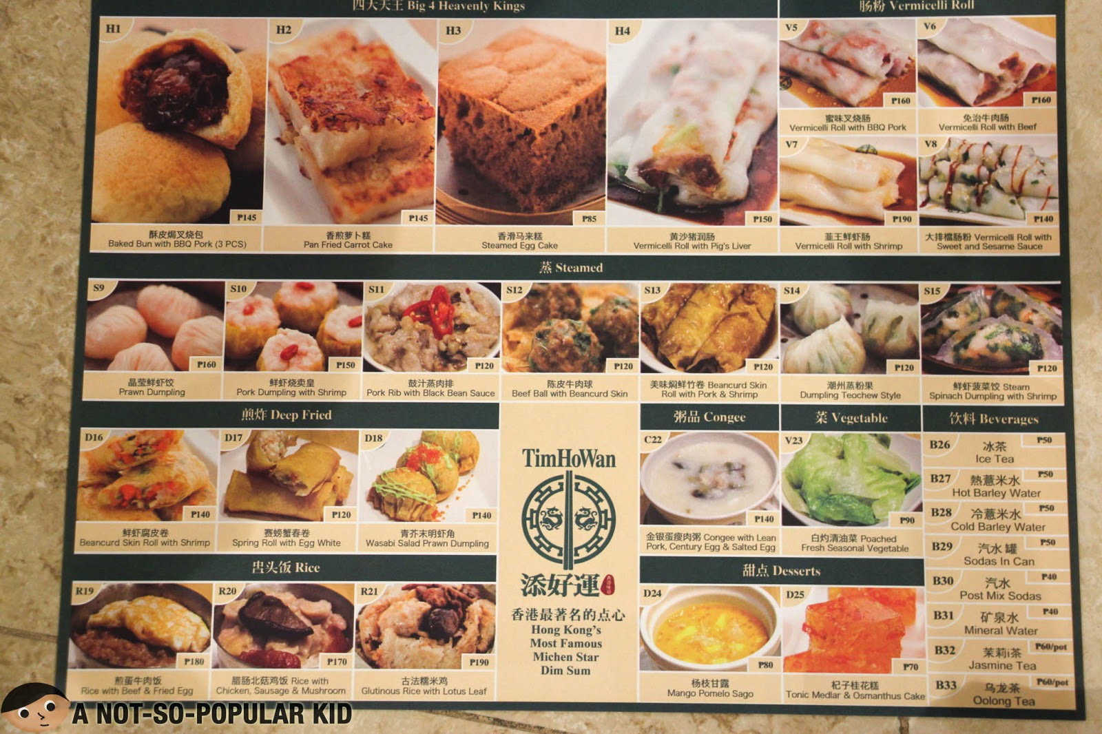 The uncomplicated menu of Tim Ho Wan