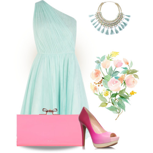Pastel essentials: mint and pink. Visit www.forarealwoman.com      #pastels #prom #promdress #tedbaker #johnlewis