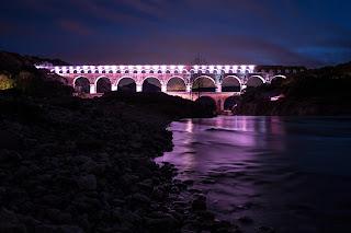 canoe nocturne pont du gard