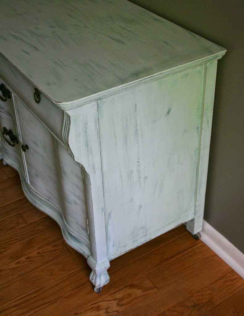 Mild Mint) Dry Brushed With La Fonda Villa Fountain (Mixed In Behr