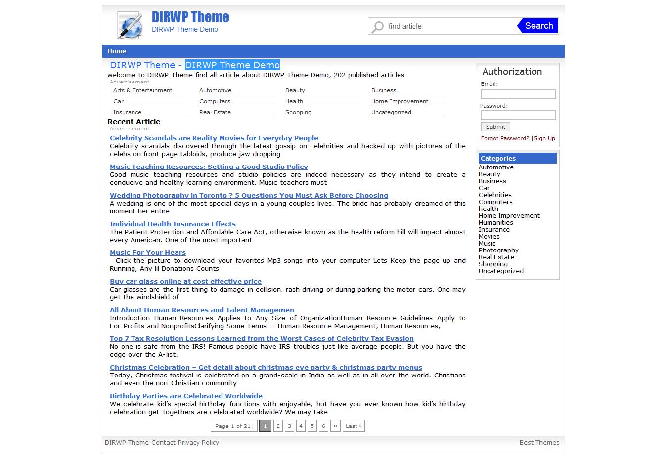 auto generated content agc wordpress theme free theme premium