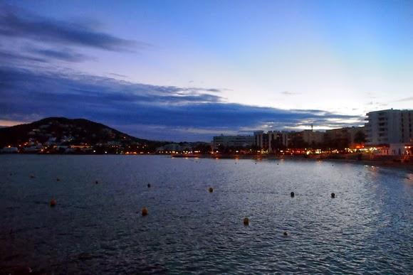 Santa Eularia at dusk