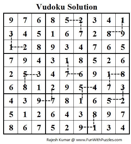 Vudoku (Daily Sudoku League #73) Solution